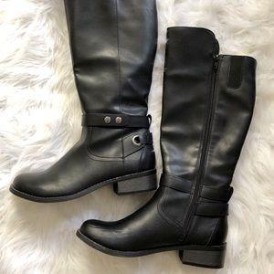 Arizona Jean Co. Black Faux Rider Boots 8M